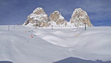 Photo of Il malinconico silenzio delle piste da sci in Dolomiti