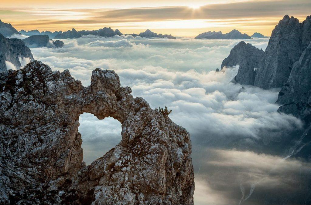 cuore, san valentino, montagna