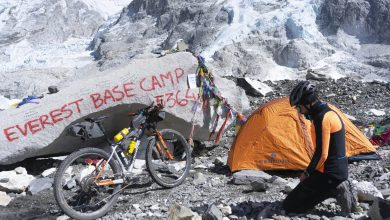 "Photo of Omar Di Felice al campo base dell'Everest: ""Un sogno che si avvera"""
