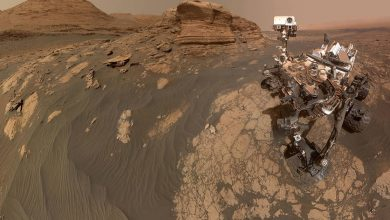 "Photo of Da Marte il selfie di Curiosity con il ""Mont Mercou"""