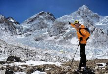 Photo of Kilian Jornet e David Gottler insieme sulla cresta ovest dell'Everest