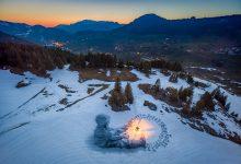Photo of Il land artist Saype e il sogno di dipingere sulla neve
