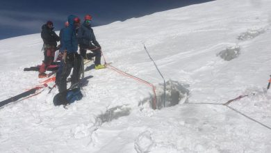 Photo of Monte Rosa. Due alpinisti precipitano in un crepaccio sul Breithorn