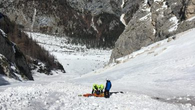 Photo of Forcella Antelao. Scialpinista cade sulla neve dura, è grave