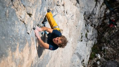 Photo of Luca Schiera, ambassador Rock Experience, ai vertici dei Ragni di Lecco