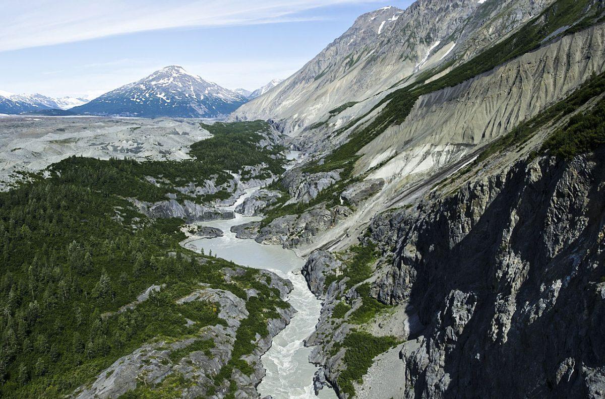 alaska, fiume, ghiacciaio