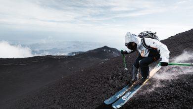 Photo of Curve bianche su sfondo nero, sciare sull'Etna