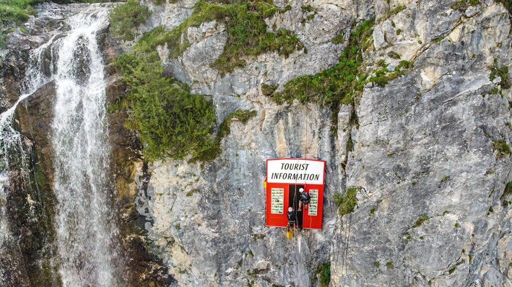 cascatal opera d'arte, austria, turismo