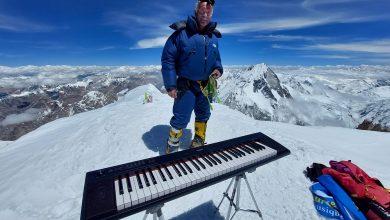 Photo of Il video del concerto record in vetta al Gasherbrum II del pianista delle cime