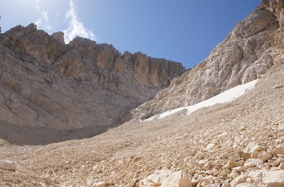 ghiacciaio calderone, gran sasso, carovana dei ghiacciai