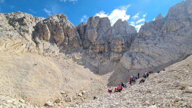 """Photo of Climbing for Climate. Rettori sul """"ghiacciaio"""" del Calderone, uniti nella lotta al cambiamento climatico"""