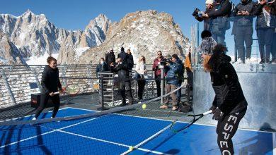 Photo of Sul Monte Bianco il record di match di tennis più in alto al mondo